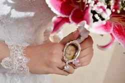 Relicário Medalha com foto para Buque de noiva