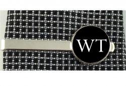 Prendedor de gravata personalizado com logotipo ou iniciais