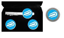 10 kits (prendedor gravata , abotoadura e broche)
